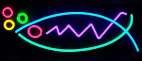 abstract neon art