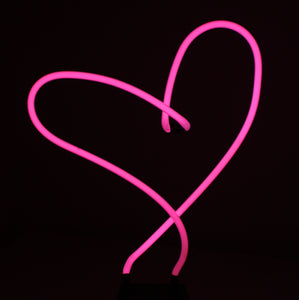 Heart Neon Art Sculpture Love Valentines FREE SHIPPING!