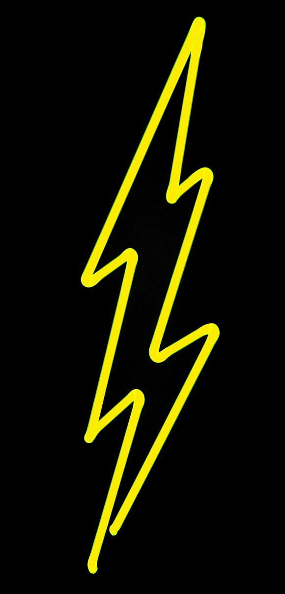 lightning bolt neon art sculpture