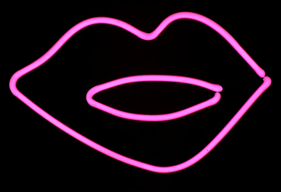 Hot Pink Lips Neon FREE SHIPPING!!! Freestanding Tabletop Art Sculpture Modern Design