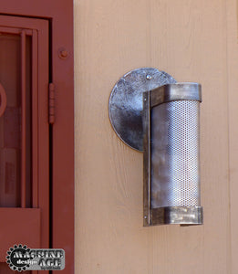 metal exterior industrial steampun wall lamp
