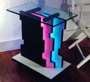 handmade Neon LED end table