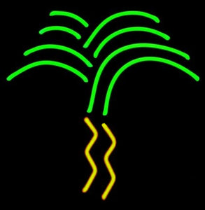 hawaiian neon palm tree sculpture