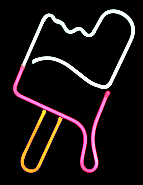 neon Ice Cream Bar Sculpture