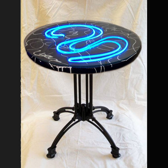 unique handmade LED table