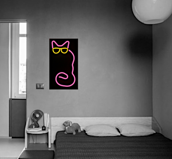 Cat LED Wall Art