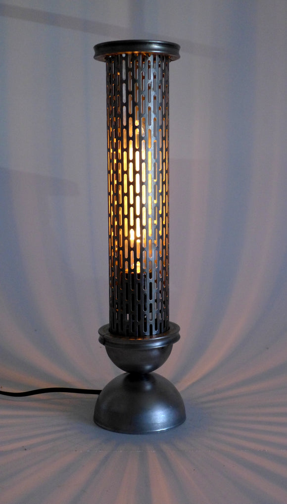 handmade metal steampunk industrial table lamp