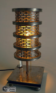 industrial steampunk metal table lamp