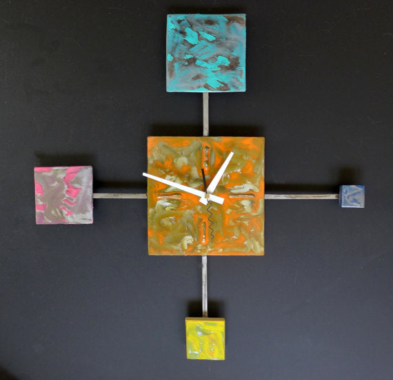 handmade metal wall clock