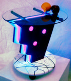 What? LED 'Neon' End Table MidCentury Modern Unique Original Design Light Table