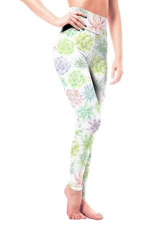 Leggings - Flower Succulents