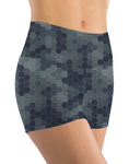 Booty Shorts - Blue Gray Hex Camo