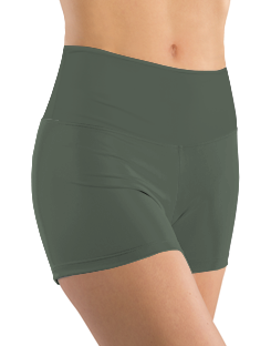 Booty Shorts - Olive Green Solid