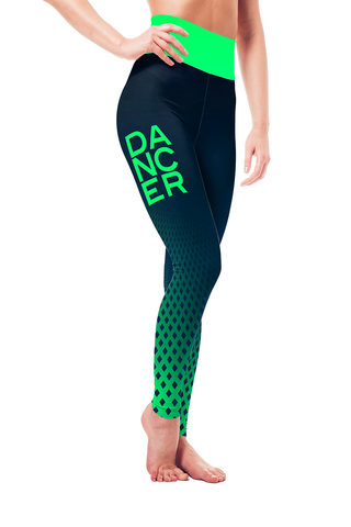 Leggings - Blue-Green Dancer