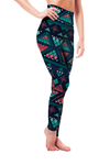 Leggings - Neon Aztec Blue