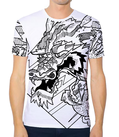 Unisex Athleisure Tee - CW Dragon Sketch