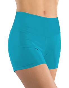 Booty Shorts - Cyan Solid