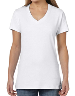 Female V-Neck Athleisure Tee - Custom