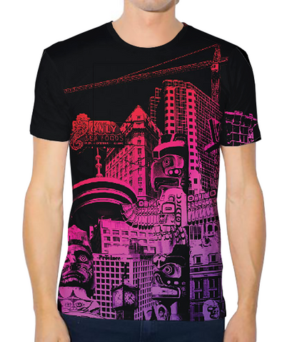 Unisex Tech Tee - Hot Night Vancouver