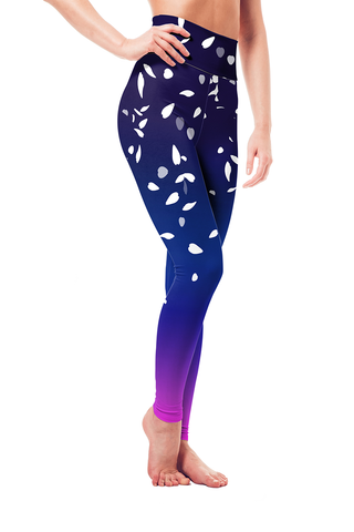 Leggings - Japanese Sky Cherry Blossoms