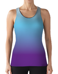 Female Racerback - Pink Blue Gradient Solid