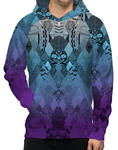 Unisex Hoody - Blue Purple Quilt