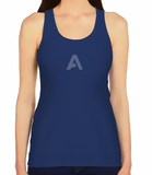 Female Racerback Tank - Solid Blue A