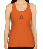 Female Racerback Tank - Solid Orange A