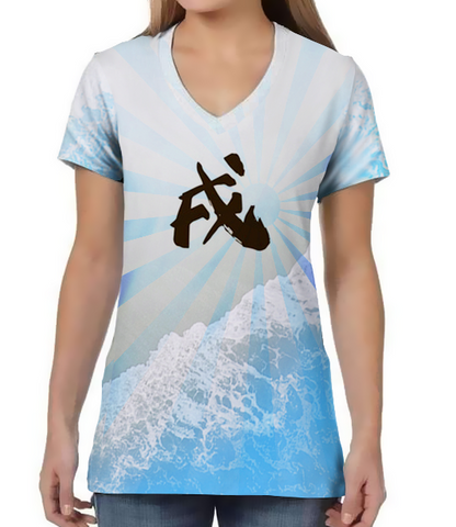 Year of the Dog Shoreline- V Neck Tee
