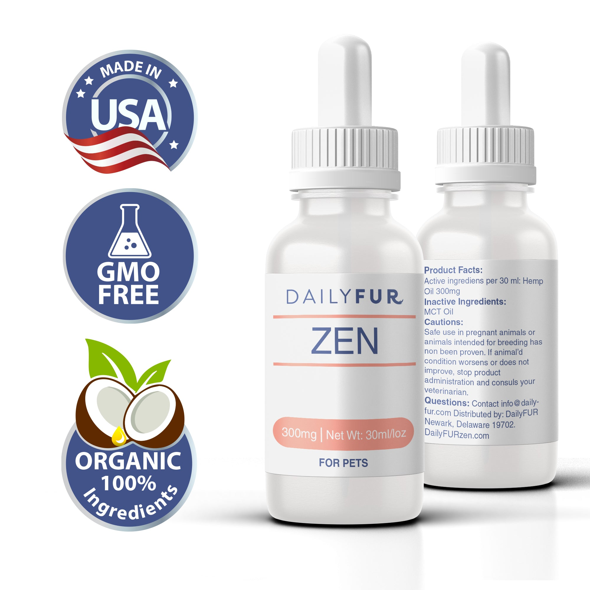 ZEN Pet Hemp Oil For Cats & Dogs - Chill With Your Fur Pack