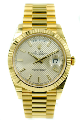 Rolex Day-Date 40 Presidential 228238 Waffle Dial