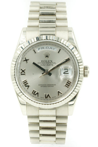 Rolex 118239 Day-Date 36 President White Gold