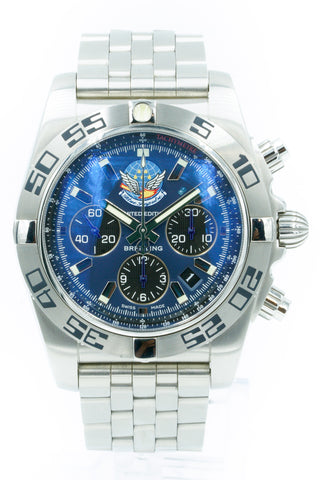 Breitling Chronomat 44 Blue Impulse AB0110 Brushed Steel