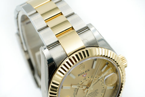 Rolex Sky-Dweller 42MM Champagne 326933 Stickered 2019