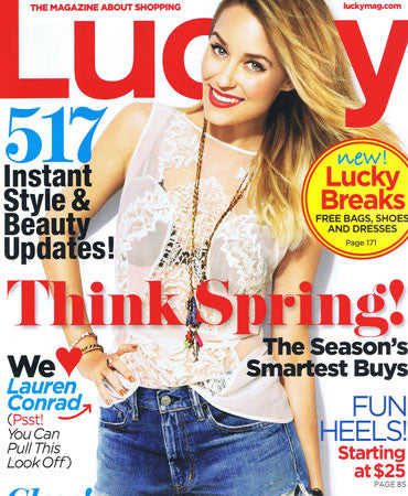 2.1.13 Jessica Winzelberg Jewelry on Lauren Conrad in Lucky Magazine March 2013