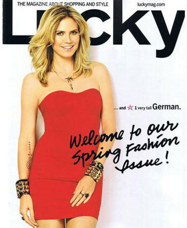 2.1.2011 Jessica Winzelberg Jewelry on Lucky Magazine Cover March 2011