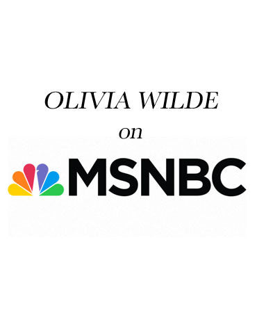 Olivia Wilde Wearing Sterling Silver Quillpen on Morning Joe Promoting Half The Skiy