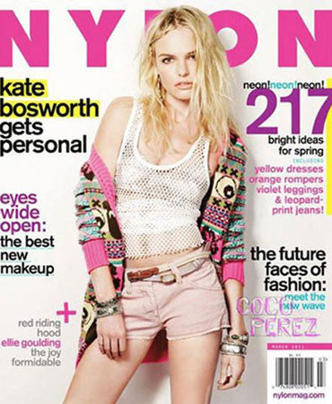 2.22.2011  Jessica Winzelberg Jewelry in Nylon Magazine March 2011