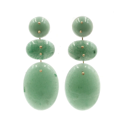 Mobile Earrings Triple Aventurine