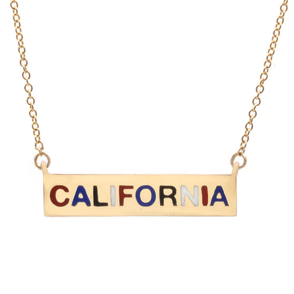Enamel California Necklace