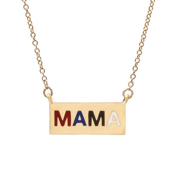Enamel Mama Necklace