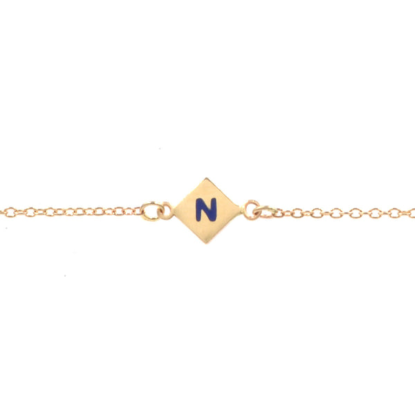 Custom Enamel Initial Shapes Bracelet