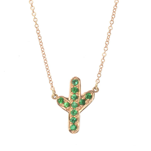Emerald Cactus Necklace