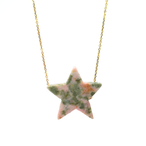 Nevada Stone Simple Drop Star Necklace