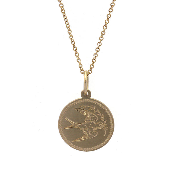 Free Bird Engraved Necklace