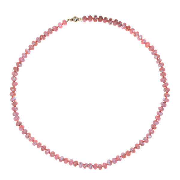 Beaded Rhodochrosite Necklace