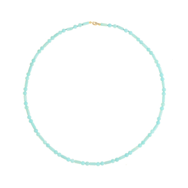 Beaded Mini Amazonite Necklace