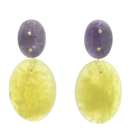 Mobile Earrings Amethyst Jade