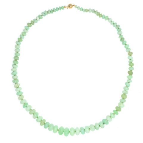 Beaded Chrysoprase Necklace - Large, Pale Green