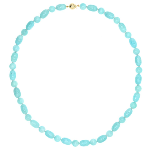 Barrel Beaded Amazonite Necklace